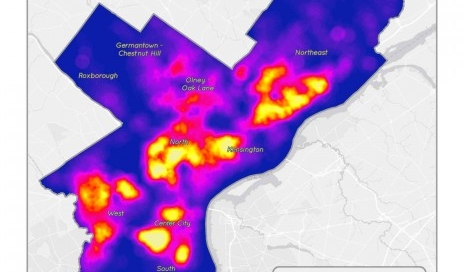 Summer of Maps - Heat map showing inspection violations